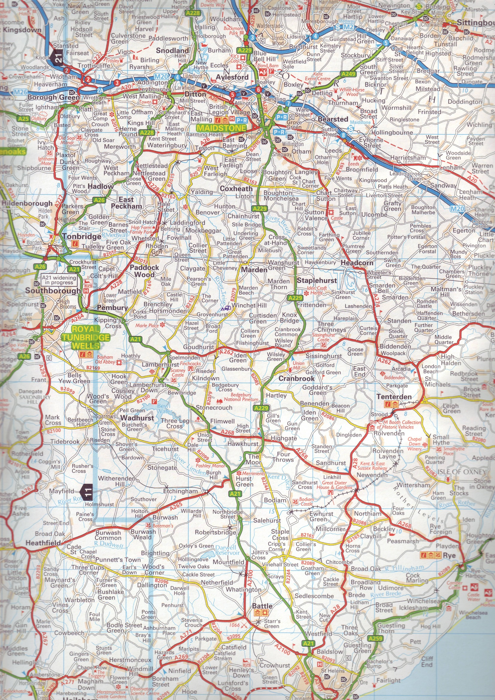Road Atlases Great Britain Buy Online - A a large map of the usa