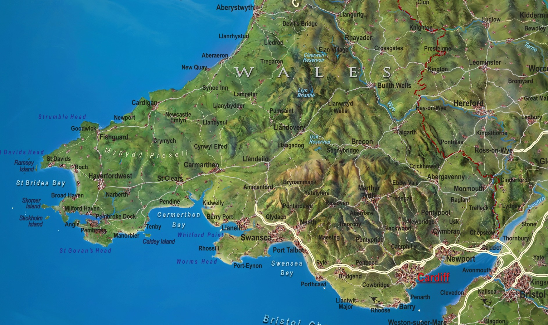 Uk Map Of Britain.Great Britain Wall Maps Buy Online