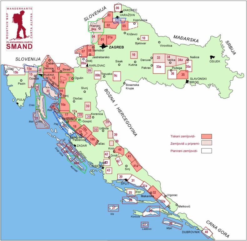 mapa hrvatske i srbije Croatia   Buy Maps and travel guides online mapa hrvatske i srbije