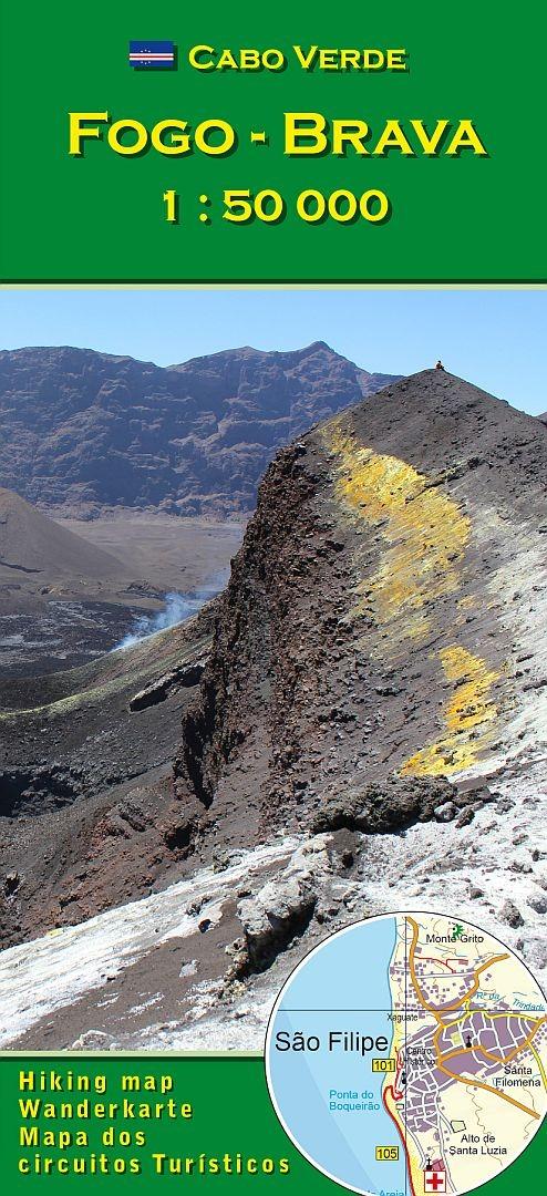 Cape Verde Map World%0A     Cabo Verde  Fogo  u     Brava  AB Verlag  image