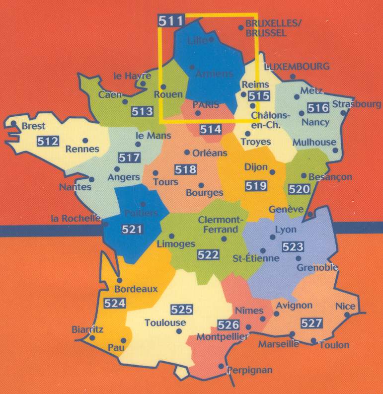 La France Map.General Maps France Buy Online
