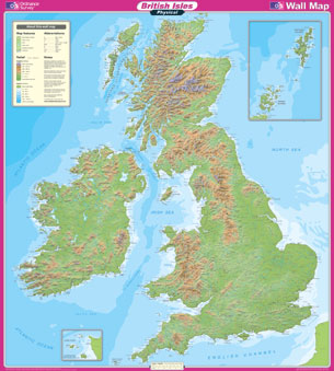 Geographic Map Of England.Great Britain Wall Maps Buy Online
