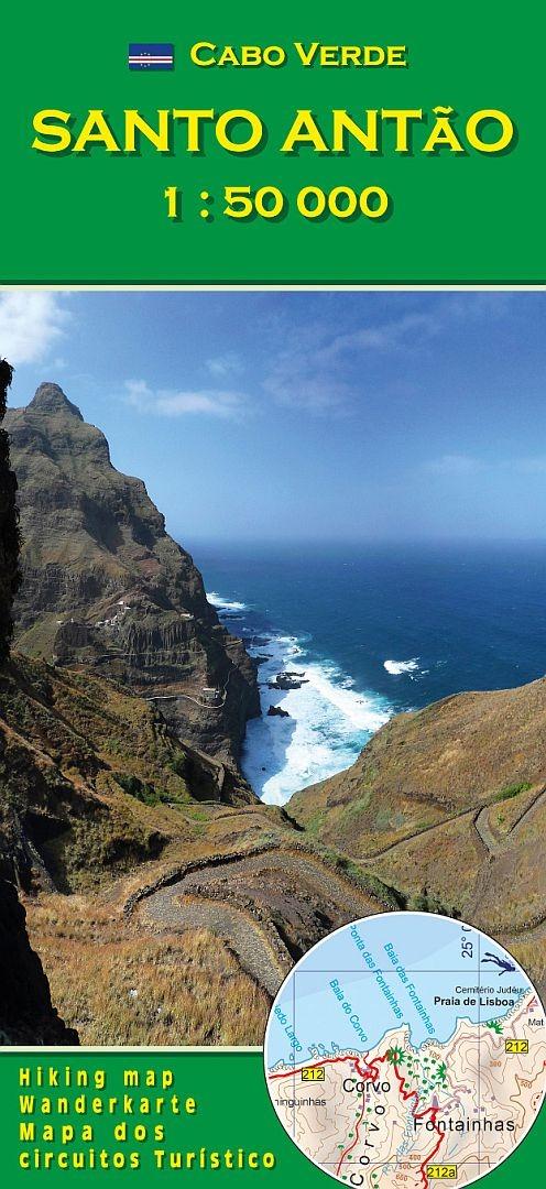 Cape Verde Map World%0A     Cabo Verde  Santo Antao  AB Verlag  image