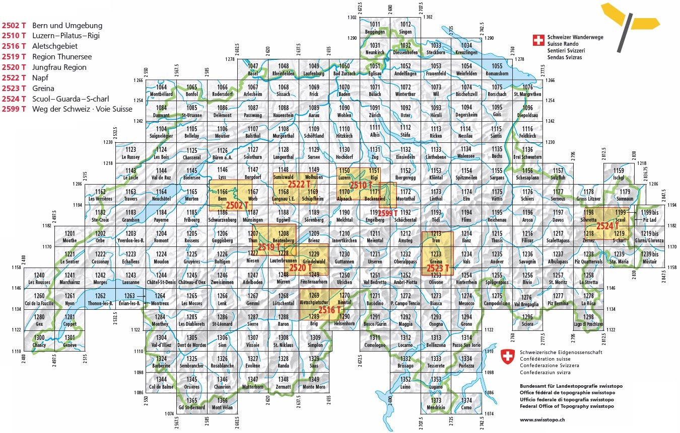 Swiss Walking Maps and Walking Guides Switzerland to Buy ...