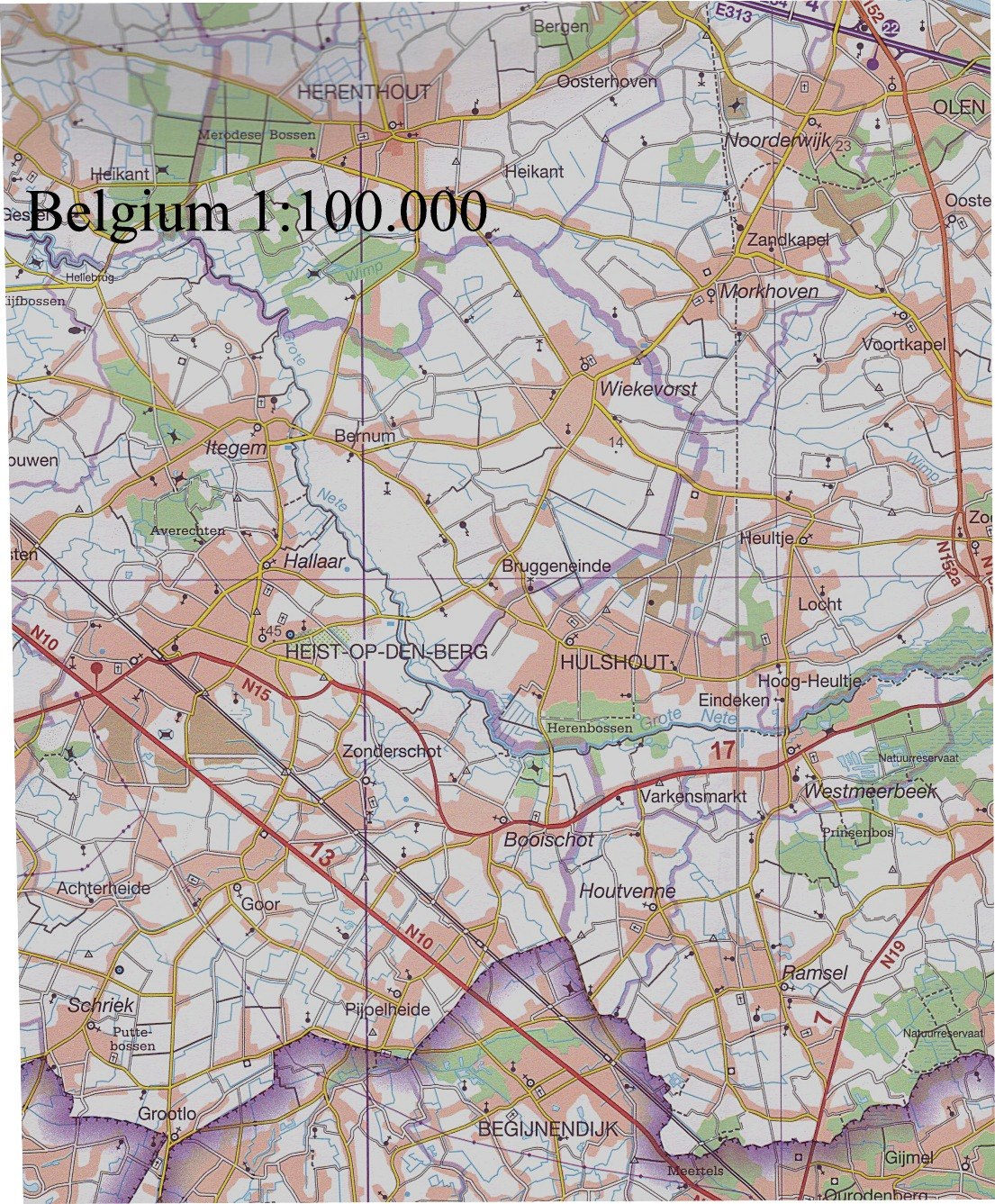 Belgium Buy Maps and travel guides online – Map Belguim