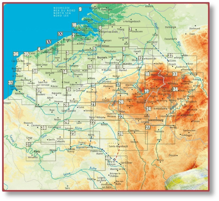 Belgium Buy Maps and travel guides online – Map of the Belgium
