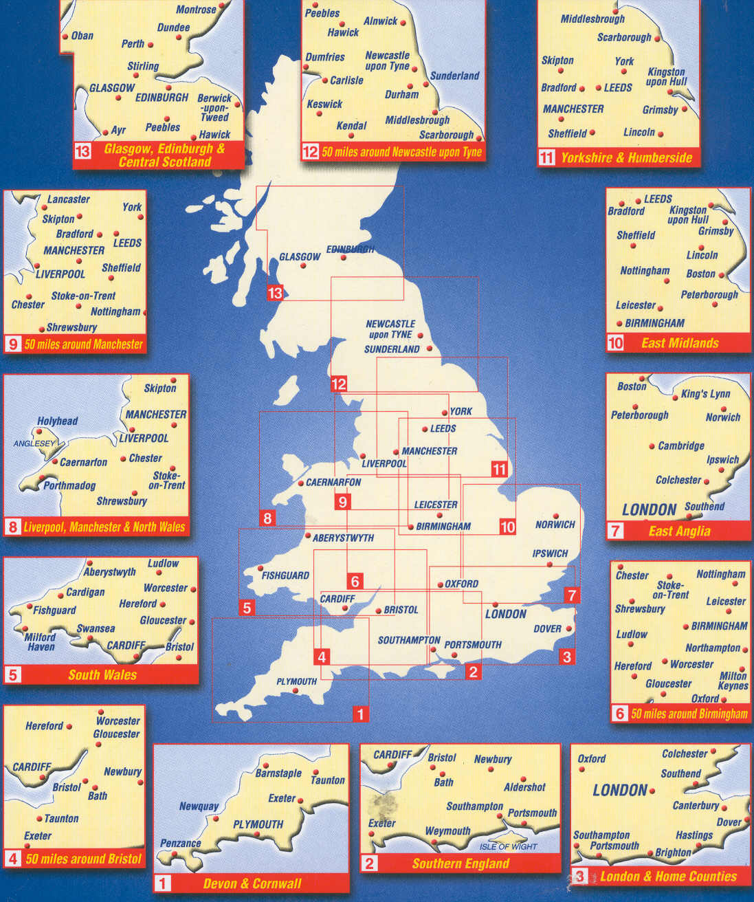 A Z Map Of England.Great Britain Maps Buy Online