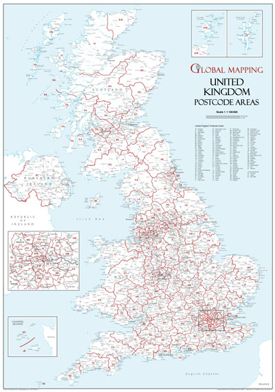 Map Of Uk Detailed.Great Britain Wall Maps Buy Online