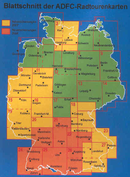 Map Of The Germany.German Maps Guides And Cycling Maps To Buy Online From The Map Shop