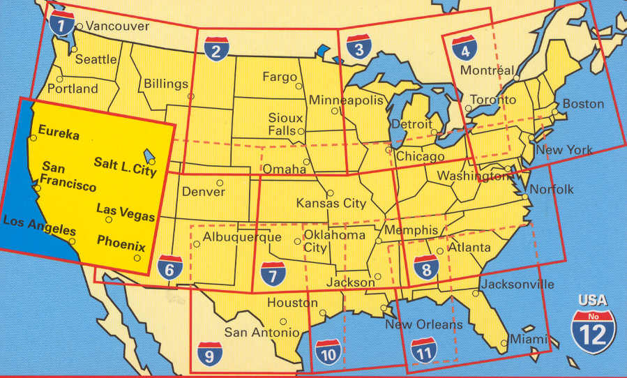 United States of America - Buy Maps and travel guides online