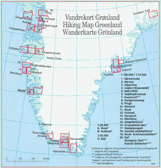Greenland Buy Maps And Travel Guides Online - Greenland map