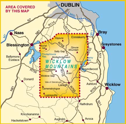 Map Of Ireland With Mountains.Harvey Map Ireland Buy Online