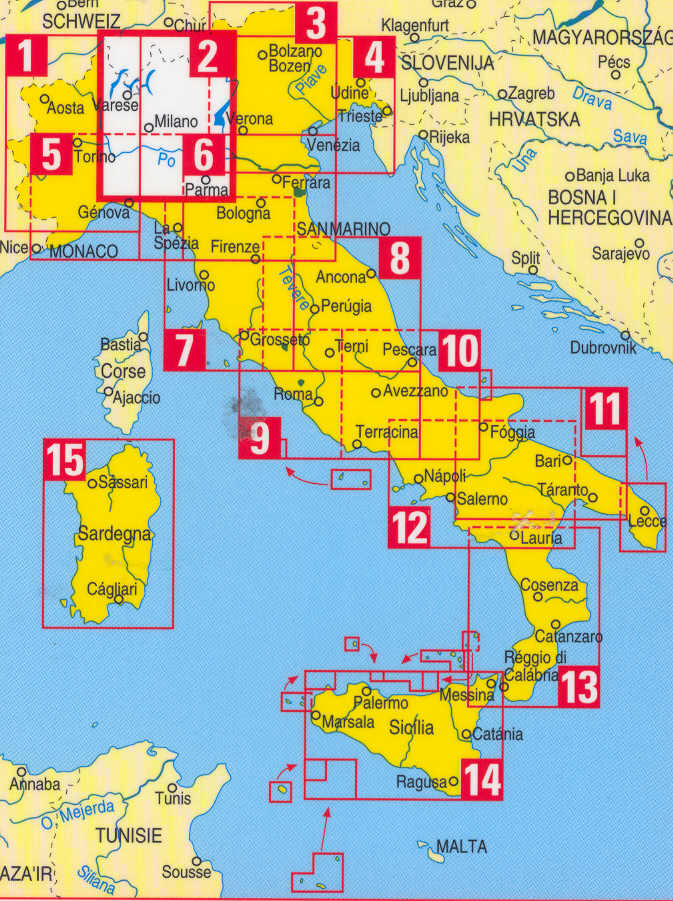 Cilento Region Italy Map.Italian Walking Maps And Walking Guides Italy To Buy Online From The