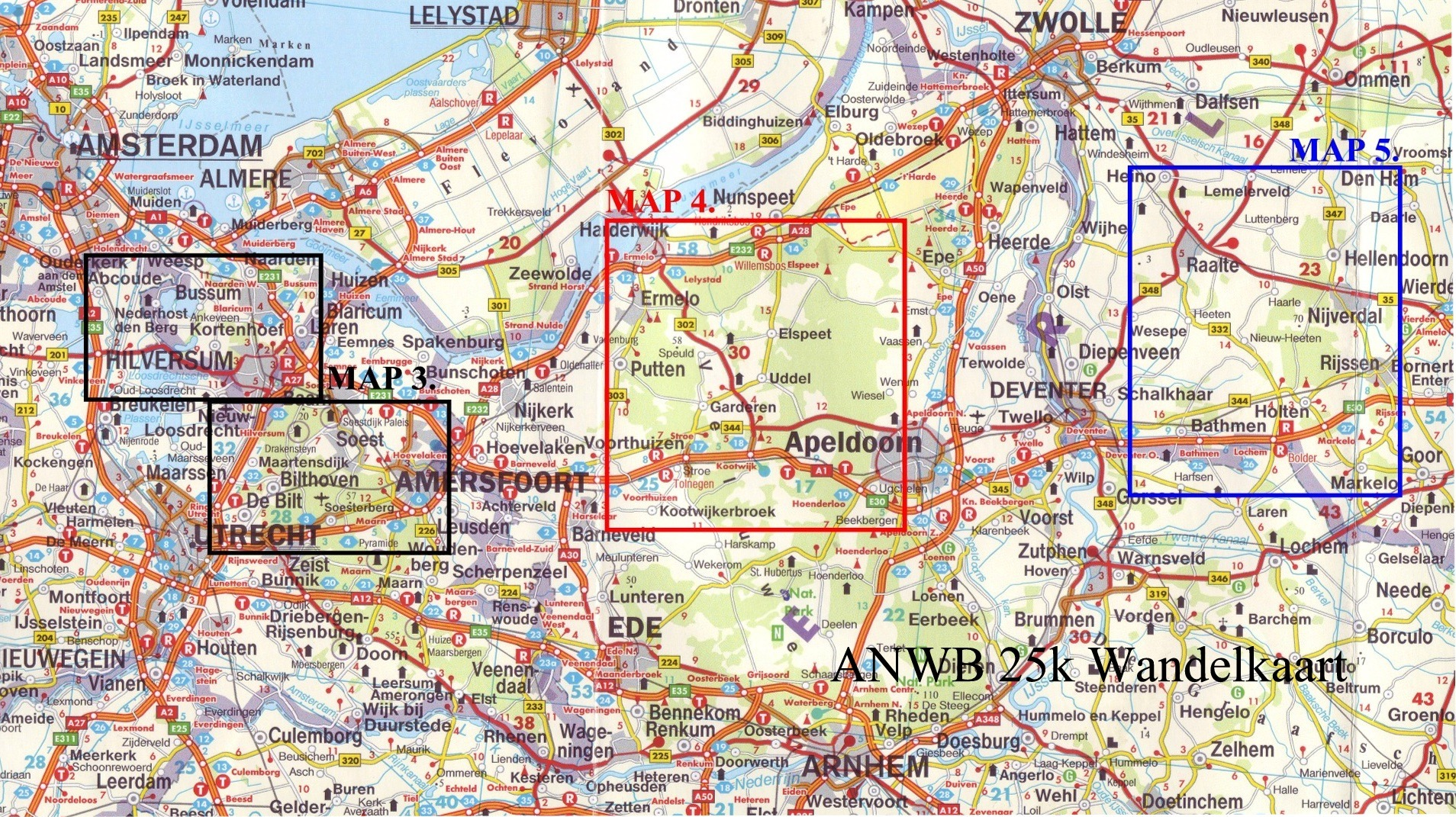 Holland Cycling Maps to Buy Online from The Map Shop