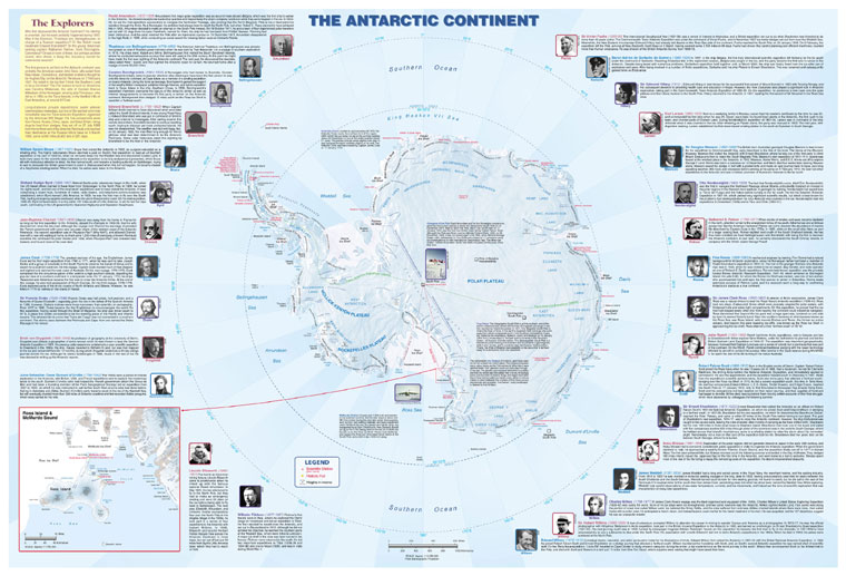 Antarctic - Buy Maps and travel guides online