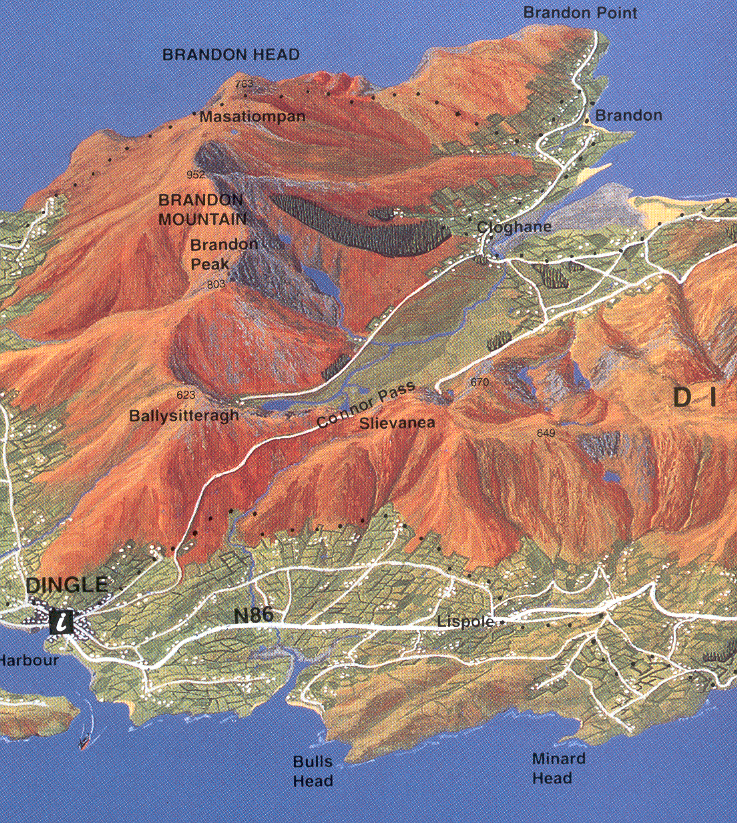 Map Of Ireland With Mountains.Ireland Buy Maps And Guides Online
