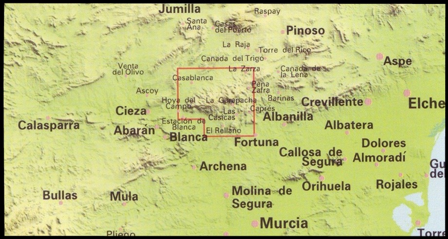 Murcia Map Of Spain.Spanish Walking Maps And Walking Guides Spain To Buy Online From The