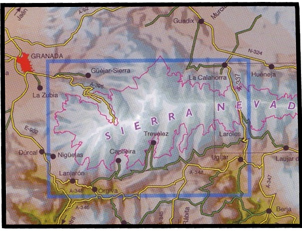 Topographical Map Of Spain.Spanish Walking Maps And Walking Guides Spain To Buy Online From The