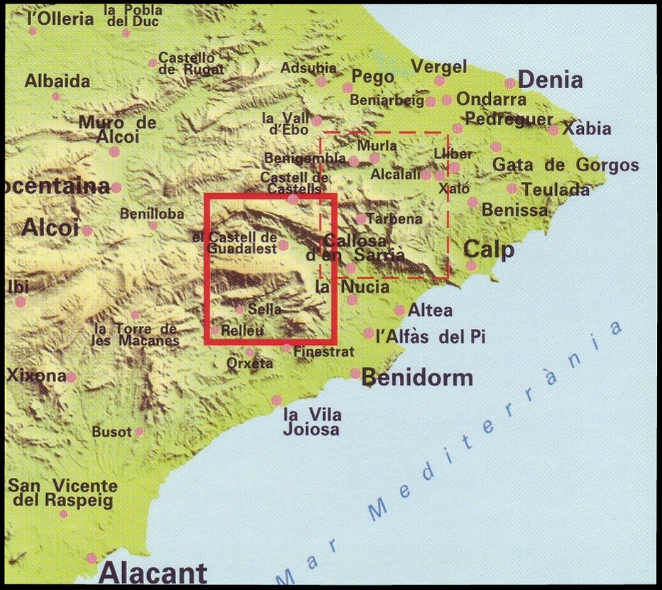 Map Of Spain Mountains.Spanish Walking Maps And Walking Guides Spain To Buy Online From The