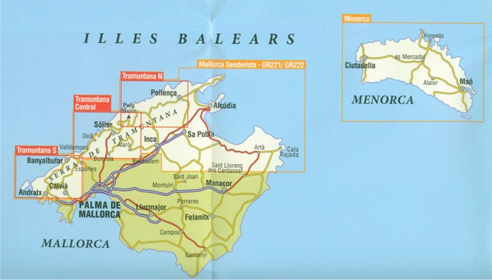 Map Of North Spain Coast.Balearic Islands The Map Shop Upton Upon Severn