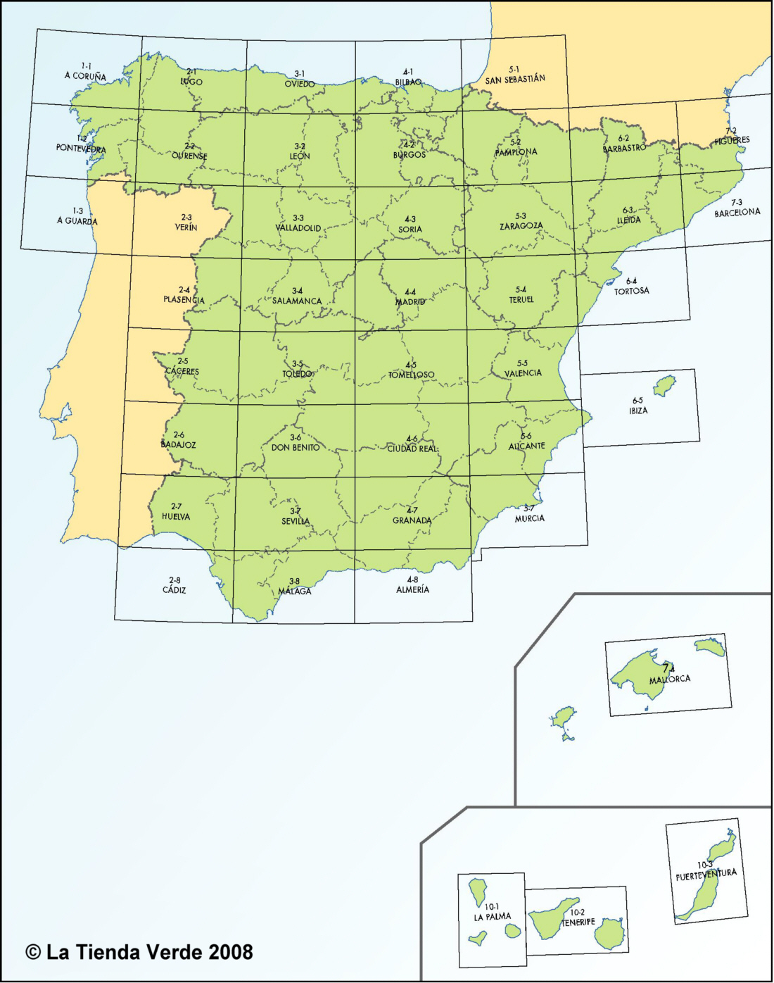 Full Map Of Spain.Spanish Walking Maps And Walking Guides Spain To Buy Online From The