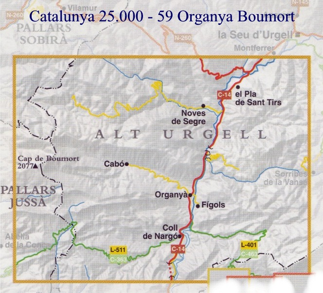 Mapa Topografic De Catalunya.Spanish Walking Maps And Walking Guides Spain To Buy Online