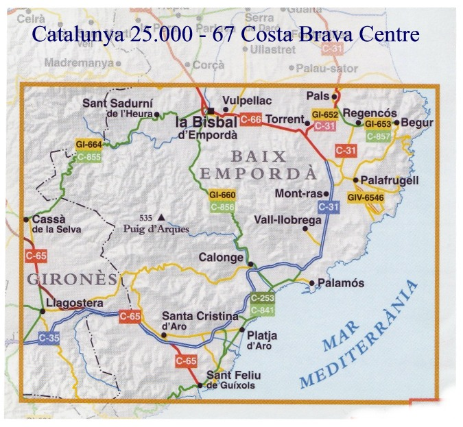 Costa Brava Map Of Spain.Spanish Walking Maps And Walking Guides Spain To Buy Online From The