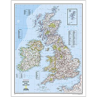 Great Britain Wall Maps  Buy online