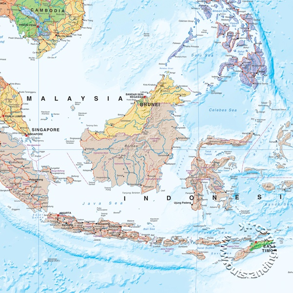 South East Asia - Buy Maps and travel guides online